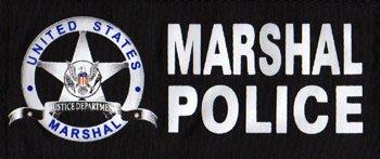 JHS((金和勝 生存遊戲專賣))警星US. MARSHAL 黑色識別貼片(中) ID-14(BLACK)