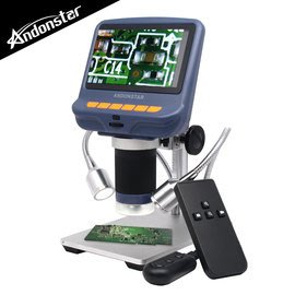 【風雅小舖】【Andonstar AD106S 4.3吋螢幕USB數位電子顯微鏡+LED蛇管燈】