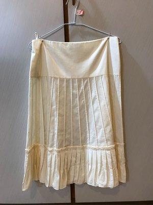 PRADA 二手義大利進口名牌 百褶裙/膝下裙/圓裙42號