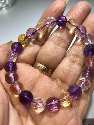 T003天然頂級大四喜紫黃白水晶