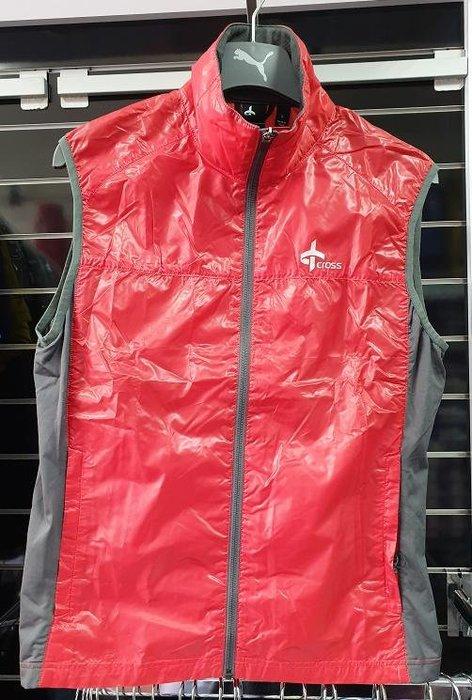 (易達高爾夫) 全新原廠CROSS CR1120711373 紅色  男背心 薄款