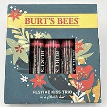 burts bees (蜜蜂爺爺) [ 塗鴉潤色滋養護唇膏三支組 ] Tinted Festive Kiss 全新