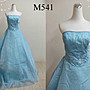 *幸福婚紗禮服館*M541二手大尺碼禮服 水藍色...
