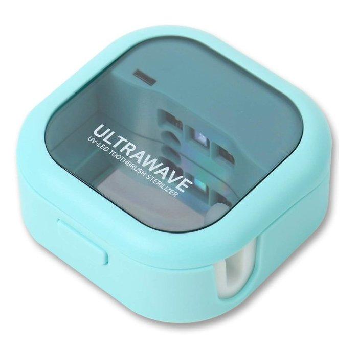 《FOS》日本 ULTRA WAVE 牙刷 除菌器 紫外線 LED 99.9% 除菌 攜帶型 上班 出國 熱銷 新款