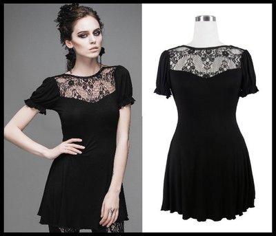 *mini PUNK LOLO*歐洲中古世紀-法式巴黎香榭大道蕾絲塿空棉質洋裝(TT019)GOTHIC