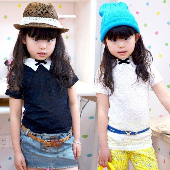 韓版《浪漫蕾絲款》氣質短袖上衣(C2-5)