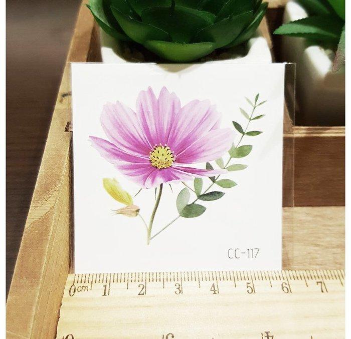 【萌古屋】花朵單圖CC-117 - 防水紋身貼紙刺青貼紙K38