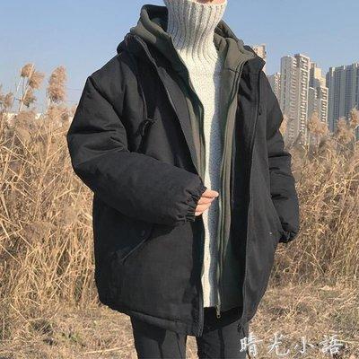 冬季中長款男士棉衣韓版潮流寬鬆外套嘻哈棉襖港風加厚棉服面包服