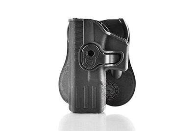 台南 武星級 MIESSA GLOCK 手槍 左手 快拔槍套 黑( 腰掛硬殼BB槍玩具槍手槍套短槍手槍G17G19GEN