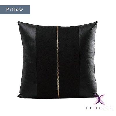 【夏法羅 傢飾】簡約皮革毛呢系列單拉鍊抱枕 靠墊 腰枕 XP-16