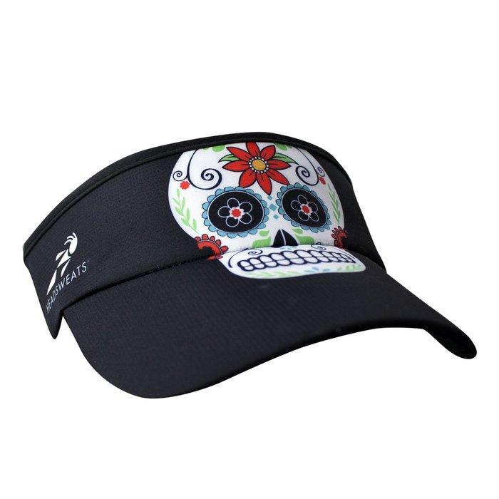 騎跑泳者 - HEADSWEATS 汗淂(全球運動帽領導品牌) 中空遮陽帽 黑糖骷髏 Black Sugar Skull