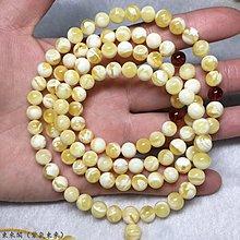 東來閣(紫氣東來)俄料白花108顆佛珠 直徑7  無優化 男女士圓珠多圈手串 女士項鏈 ﹝DLG10069﹞