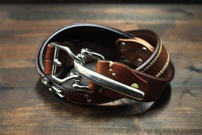 [ Satisfaction ] { DEUCE & CO.}---黃銅芯鍍銀馬具快拆釦belts