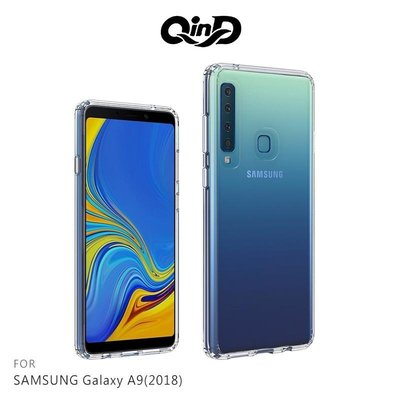 QinD SAMSUNG A9(2018) 雙料保護套 手機保護殼 透明背蓋 手機保護套【嘉義MIKO手機館】SI5