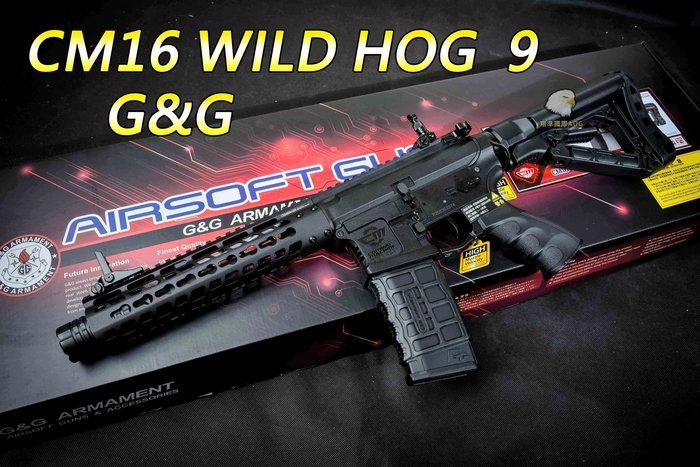 【翔準軍品AOG】G&G CM16 WILD HOG  9 半金屬 電動步槍 M16 卡賓槍 M4 生存槍 CM16W