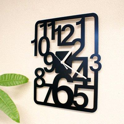 2017~個性簡約掛鐘時尚創意客廳臥室大掛錶鏤空現代鐘錶數字藝術QDSC-16944