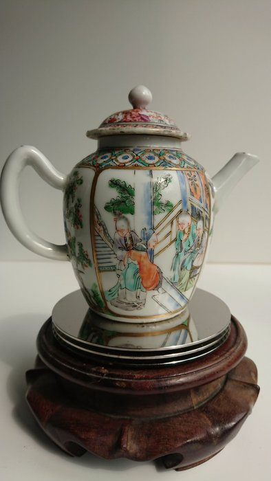 清代 中期 廣彩茶壺