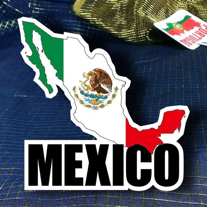 【衝浪小胖】墨西哥國旗地圖抗UV、防水登機箱貼紙/Mexico/世界多國款可收集和訂製