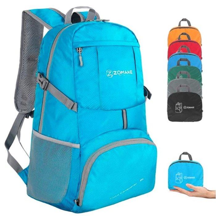 《FOS》日本 ZOMAKE 超輕量 後背包 35L 大容量 可摺疊收納 運動 通勤 上班 上學 登山 旅遊 熱銷