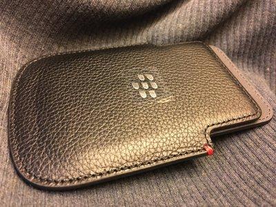 Blackberry Q5 原廠真皮休眠皮套, 全新正品