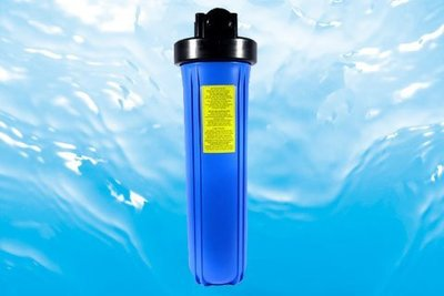 """【清淨淨水店】 20"""" BIG-BLUE 1""""大胖濾殼藍瓶黑蓋 量販價2200元/一箱4支,一支=550元"""