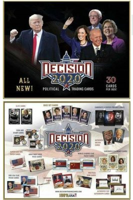2020 Decision 總統大選 盒卡 全新完整原封盒 非拆剩 美國獨有限量