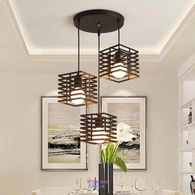 1909{鴻發精品}創意餐廳吊燈三頭工業風吧台臥室餐廳燈簡約餐吊燈具