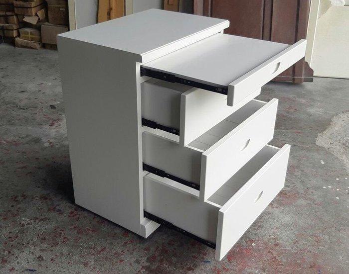 美生活館 全新鄉村傢俱訂製 家具客製化 紐松全原木 純白色 單拉板三抽收納櫃 置物櫃 斗櫃床頭櫃可修改尺寸與顏色再報價