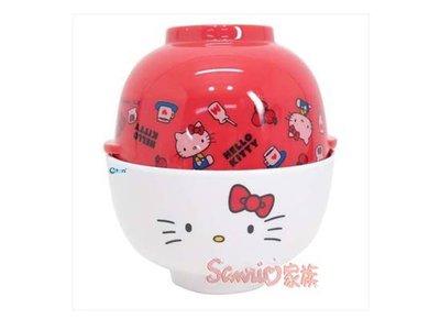 《東京家族》日本原裝進口 三麗鷗 HELLO KITTY美耐皿湯碗茶碗組(70年代)