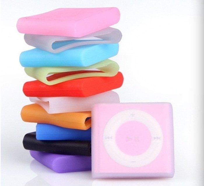 *蝶飛*Apple Ipod shuffle 4代 6代 7代 果凍套 透明保護套 硅膠袋 蘋果夾子 MP3夾子