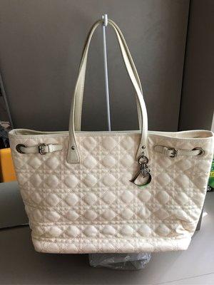 Dior 米白色購物包 媽媽包 肩背包