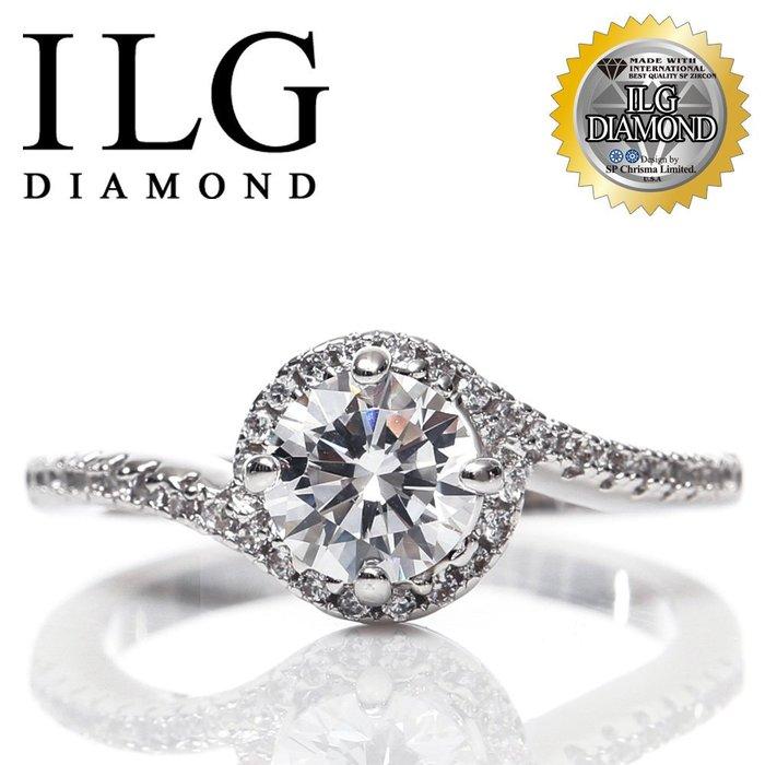 【美國頂級ILG鑽】75分 Loving love款頂級八心八箭鑽石鋯石鑽戒指最愛媲美真鑽品牌RI129