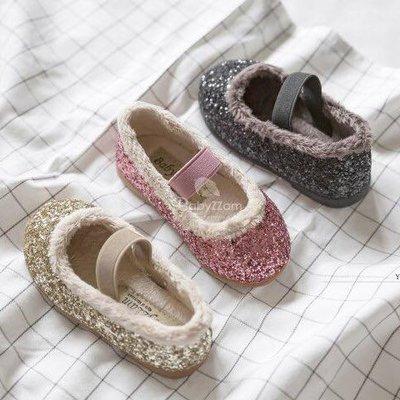 『※妳好,可愛※』韓國童鞋babyzzam 亮片娃娃鞋 休閒鞋 花童鞋 平底鞋 女童鞋 (3色)