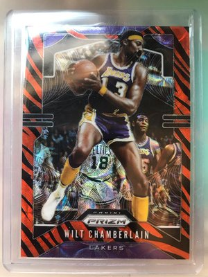 NBA 籃球卡 Wilt Chamberlain prizm 張伯倫 虎紋