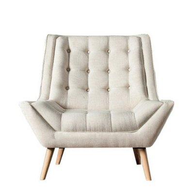沙發 美式田園沙發椅 北歐小戶型客廳沙發 臥室單人布藝小沙發 懶人午休躺椅 簡約沙發躺椅 XH