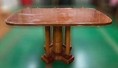 樂居二手家具(中)台中西屯二手傢俱買賣推薦 E120704*實木餐桌*2手桌椅拍賣 會議桌椅 戶外休閒桌椅 課桌椅