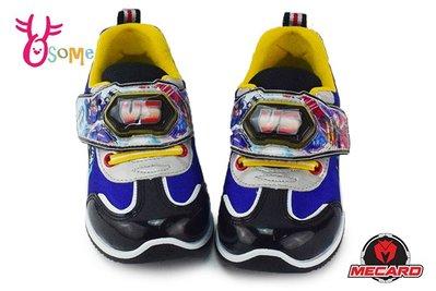 魔車戰魂 男童運動鞋 中小童 電燈鞋 K7528#藍色OSOME奧森童鞋
