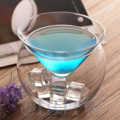 冰鎮三角杯 雞尾酒杯【奇滿來】馬丁尼杯 創意酒杯 果汁杯 雙層杯 調酒 KTV 酒吧 飲料 水杯 簡約 創意 AUNT