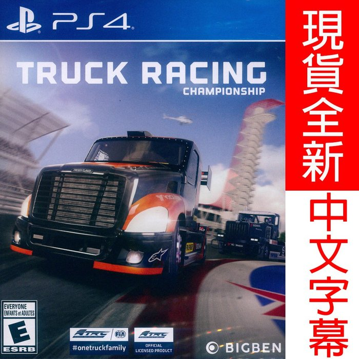 (現貨全新) PS4 歐洲卡車錦標賽 中英文美版 Truck Racing Championship