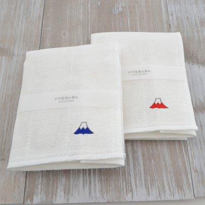 《散步生活雜貨-廚房散步系列》日本製 kaya 生地 敷巾 廚房用抹布 兩色一組 - 富士山