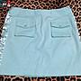 【J&K嚴選】新光三越專櫃 NR SELECT SHOP 短裙 女款 修身款- 顏色: Tiffany綠-F號28~29