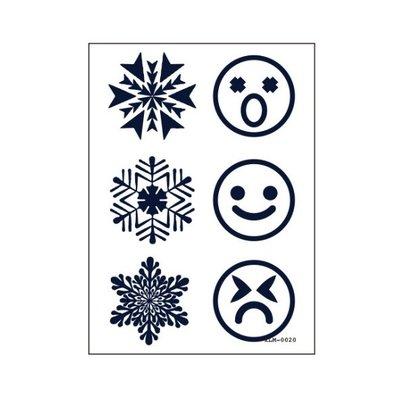 【萌古屋】雪花表情符號 - 半永久果汁紋身微刺青14天擦不掉紋身刺青XLM-020 K61