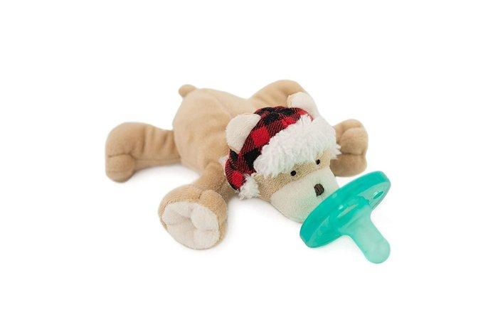 預購 美國帶回 新生兒指定款 Wubbanub 玩偶安撫奶嘴 全品項代購 可愛格紋帽小熊 彌月禮