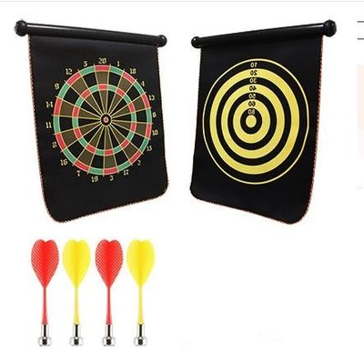 【免運】飛鏢盤套裝磁性兒童兩面家用飛鏢靶磁力飛標 【極有家創意生活館】