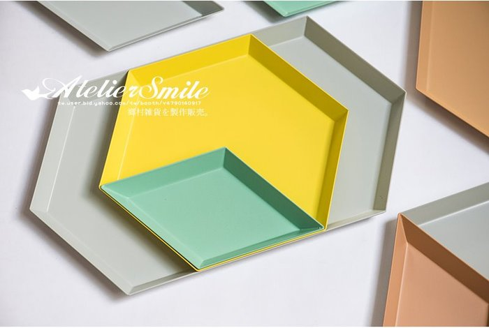 [ Atelier Smile ] 鄉村雜貨 北歐風 丹麥金屬餐盤 幾何多邊形 餐盤 拚盤 # 大六角形 (現+預)
