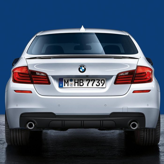 【樂駒】BMW 5 Series F10 F11 535i M Performance 原廠 改裝 後下擾流 素材