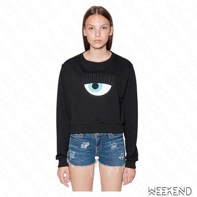【WEEKEND】 CHIARA FERRAGNI Eye Patch 眨眼 眼睛 睫毛 衛衣 上衣 黑色 18春夏新款
