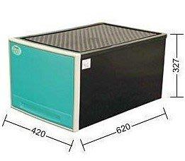 聯府 KEYWAY 65L抽屜整理箱 2色 收納箱/ / 單層櫃 CKB899 台南市