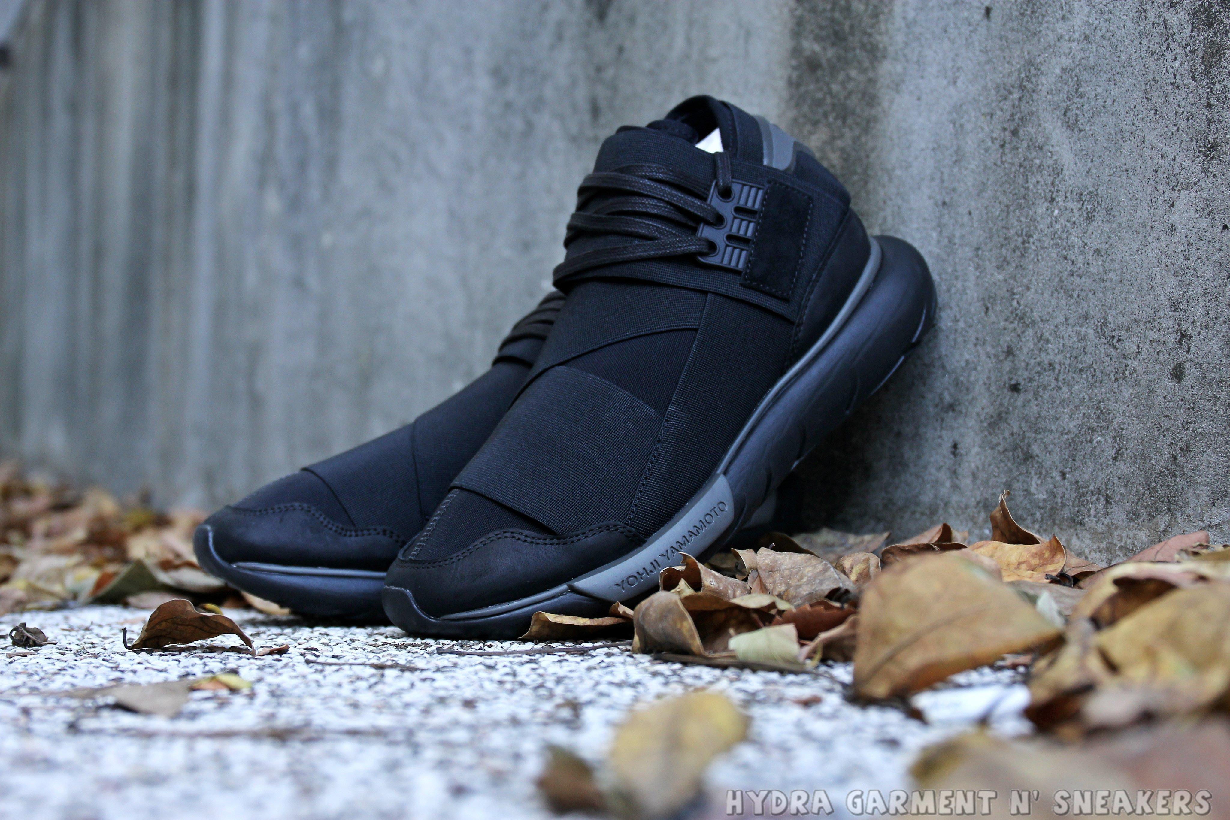 3bb044fca HYDRA Adidas Y-3 Qasa High Triple black 全黑武士鞋山本耀司 CP9854 ...