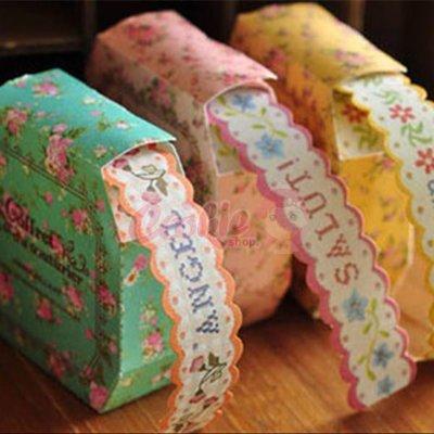 韓國文具 超美花邊紙質膠帶/貼紙 包裝送禮必備【庫奇小舖】【W33】